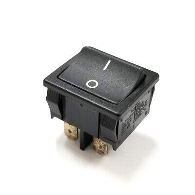 Marquardt 1802 Dpst On-off Black Rocker Switch 10a 125v 250v Ac