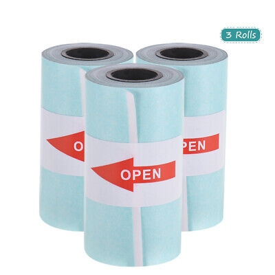 3 Rolls Sticker Thermal Paper 57mmx 30mm Self-adhesive For Photo Thermal Printer