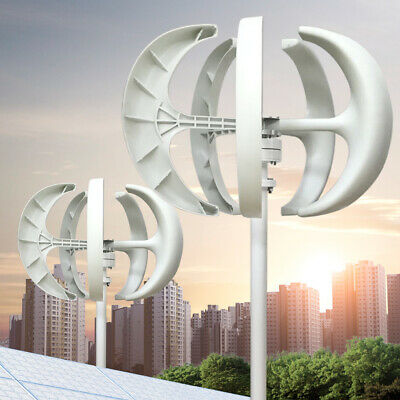 24v 600w 5blades Wind Turbine Vertical Axis Wind Generator Kits Household Garden