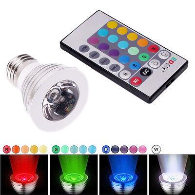 3W E27 16 Color LED Magic RGB Spot Light Bulb Lamp w/ Wireless Remote Control