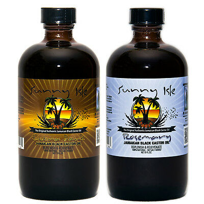 Sunny Isle Extra Dark and Rosemary Jamaican Black Castor Oil 8 Oz (Jamaican Black Castor Oil And Rosemary Oil)