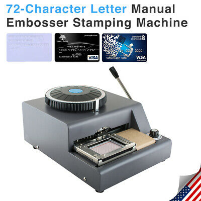 72 Letter Manual Embosser Machine Pvc Gift Card Credit Id Vip Embossing Magnetic