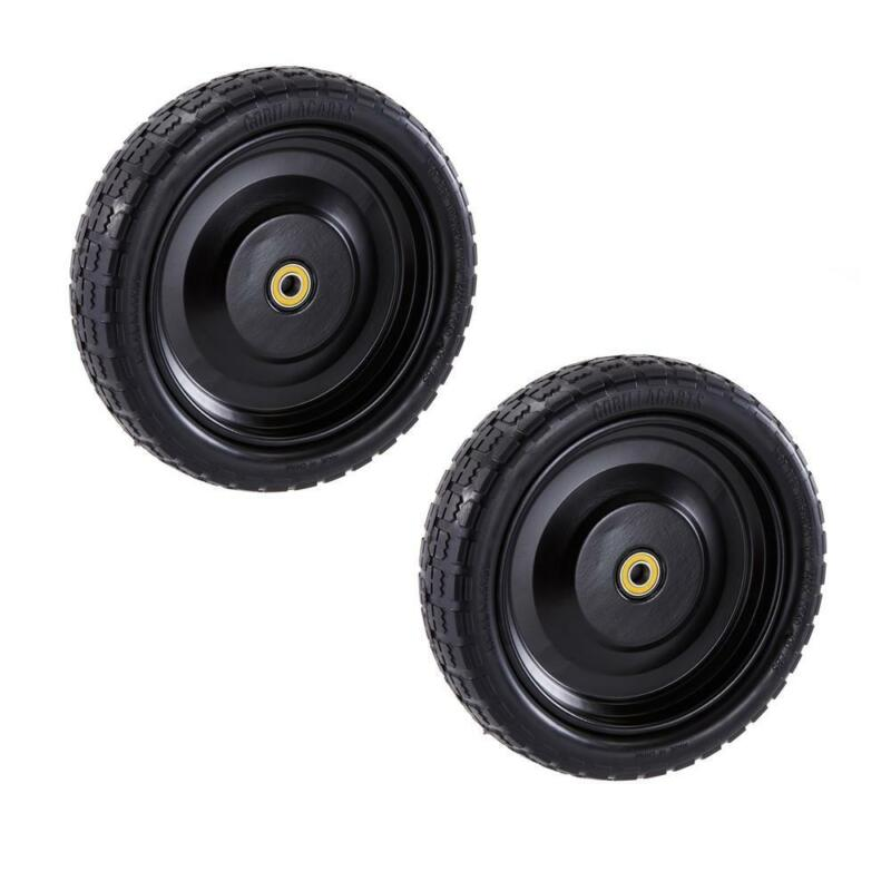 Replacement 13 Inch No Flat Tire Wheel Black for Garden Cart