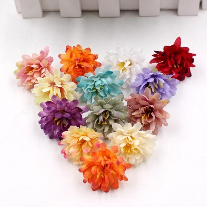 20PCS Artificial Flower Heads Silk Carnation Fake Gillyflower Wedding Ornament