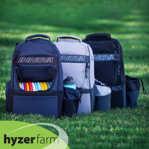 INNOVA ADVENTURE Backpack Disc Golf Bag *Pick color* Holds 25 discs Hyzer Farm