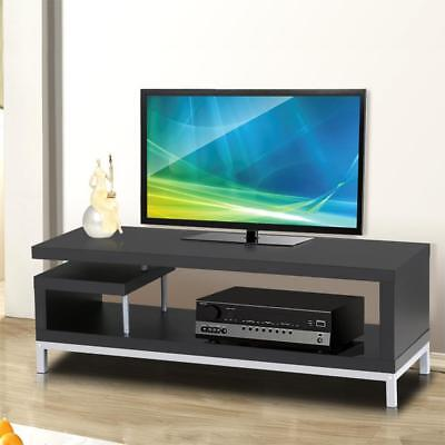 Yaheetech Black Wood Tv Stand Console Table Home Entertainment Center Media