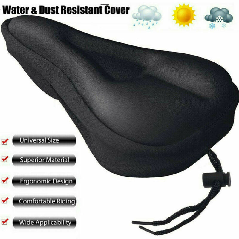 Bike EXTRA Comfort Soft Gel Pad Comfy Cushion Saddle Seat Co