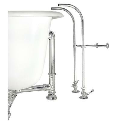 - Elizabethan Classics Free Standing Supply Line with Stops Lever Handles Chrome