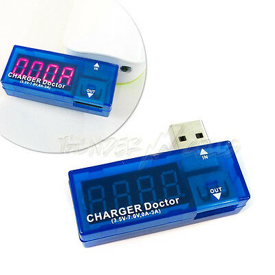 USB Voltage Current Battery Meter Tester Charger Doctor Detector US Free Ship