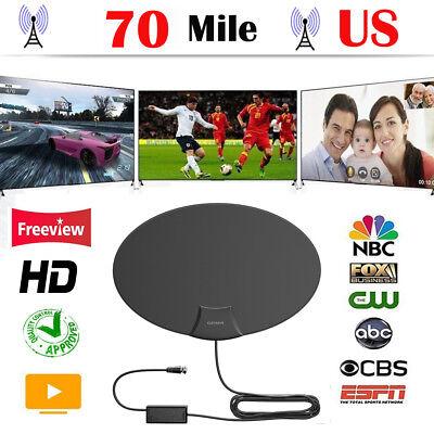 70 Mile HDTV 1080p Outdoor Amplified HD TV Antenna Digital UHF/VHF FM Radio