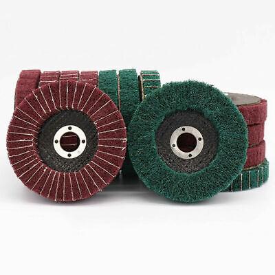 4 100mm Scotch Brite Emery Flap Discs Wheel Polishing Sanding Pads Abrasive