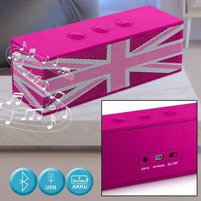 Design Musik Bluetooth Box Kinder Union Flag AUX Freisprechanlage Lautsprecher Design Musik Box