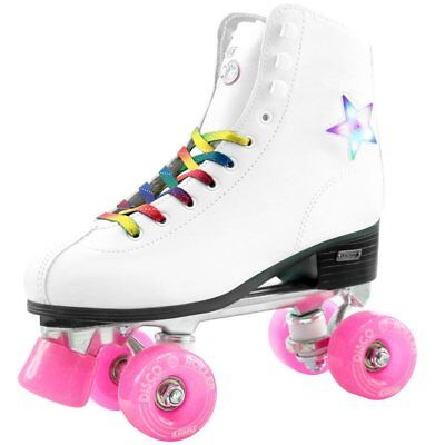 Flashing Roller Skates ( Crazy Skates Disco Roller Skate With LED Light Up Flashing Star Eu41 / US)