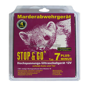 STOP & GO ULTRASCHALL MARDERSCHUTZ MARDERSCHRECK MARDERABWEHR TYP 7 07566