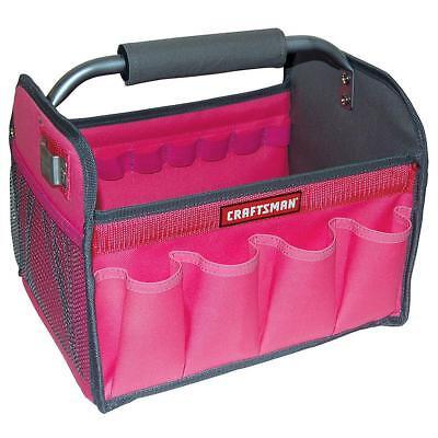 Craftsman PINK 12In. Tool Set Tote Bag Gardening Workman Organizer Brand New!  - Pink Tool Bag