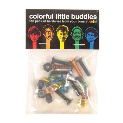 """Enjoi - Little Buddies Skateboard Hardware 7/8"""" Kreuz Schrauben Montage Set bunt"""