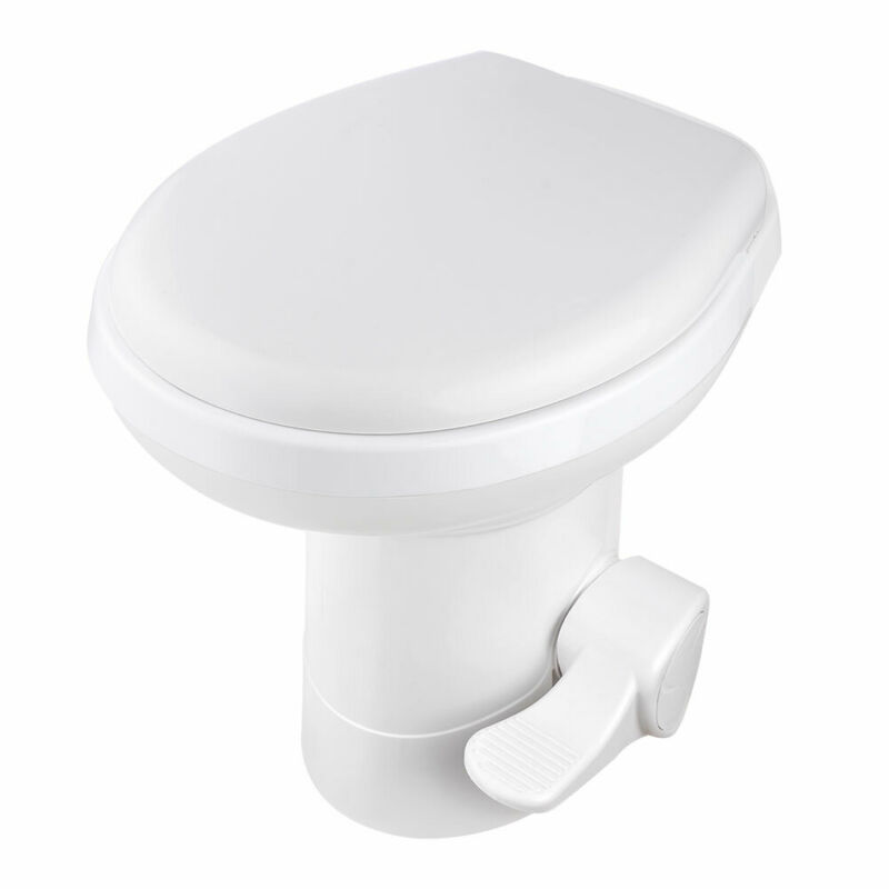 """20"""" Gravity Flush Toilet RV Camper Foot Pedal for Vehicle Boat Caraven Camping"""