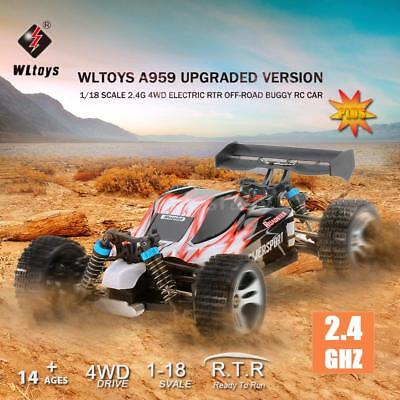 Wltoys A959 Upgraded Version 1/18 2.4G 4WD Electric Off-Road Buggy RC Car L6U6