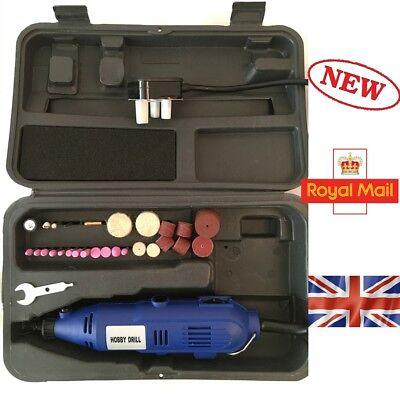 100pcs Hobby Mini Drill Grinder Kit Electric 135W Rotary Craft Model Bit Set UK