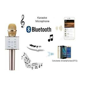 Q7 Wireless Karaoke Handheld Microphone USB KTV Player Bluetooth Mic Speaker