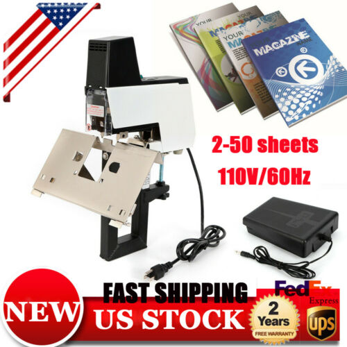 106 Electric Auto Stapler Book BindIing Flat & Saddle Binder Machine 2-50 sheets