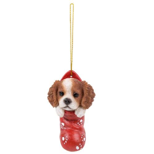 Cavalier King Charles Spaniel Dog Stocking Hanging Ornament Pet Pal Figurine