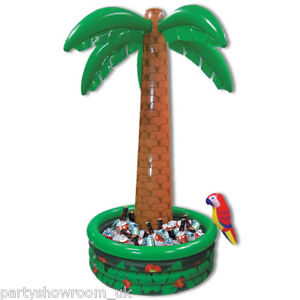 6ft Tropical Luau Hawaiian Party Jumbo Palm Tree Inflatable Drinks Cooler