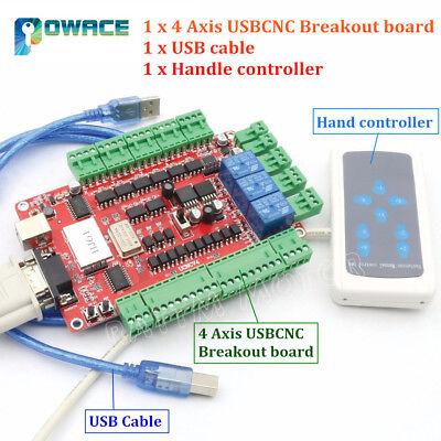 4 Axis Usbcnc Nema23 Stepper Motor Breakout Board Usb Controllerhand Controller