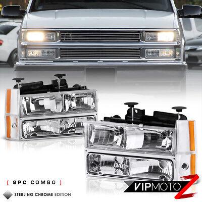 1988-1993 Chevy C/K Suburban Blazer Headlights Corner Bumper Lamps K1500 C1500