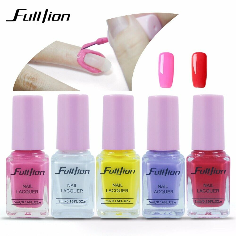 5 ml Nagellack Peel Off Liquid Nail Art Tools Tape Latex Tape 5 Farben
