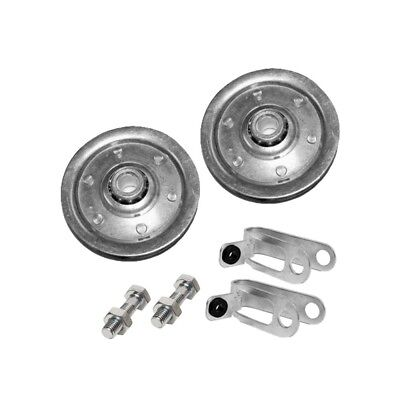 """Garage Door Pulley 3"""" and Safety Cable Guide For Extension Springs (2 Pack)"""