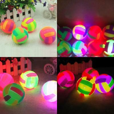 Led Volleyball Flashing Light Up Bouncing Hedgehog Ball Kids Toy Color Chang