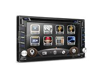 """6.2"""" Double Din HD Touch Screen Bluetooth Car Stereo GPS DVD Radio USB SD Player + Screen Mirroring"""