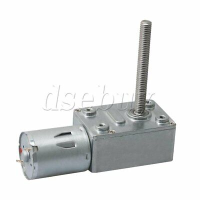 Jgy370 High Torque Turbo Worm Geared Motor Dc 12v 10rpm 6mm Shaft For Robots