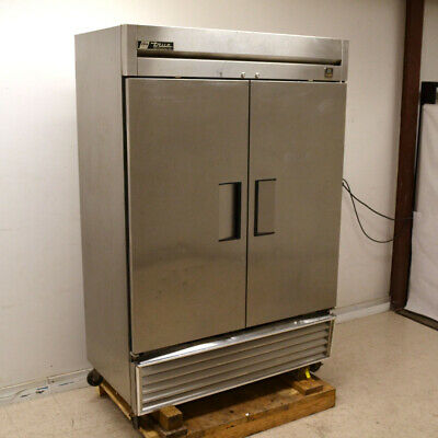 True Ts-49 Reach-in Two-section Two-door 4-shelf Stainless Steel Refrigerator