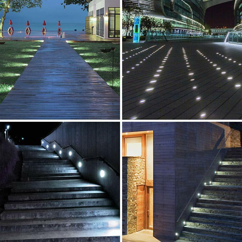 10//16 x 0.6W Boden Einbaustrahler LED Leuchte Außenlampe Minispot Wasserdicht