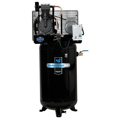 Industrial Air 5 Hp 230v 80 Gal. Baldor Vertical Compressor Iv5018055 New