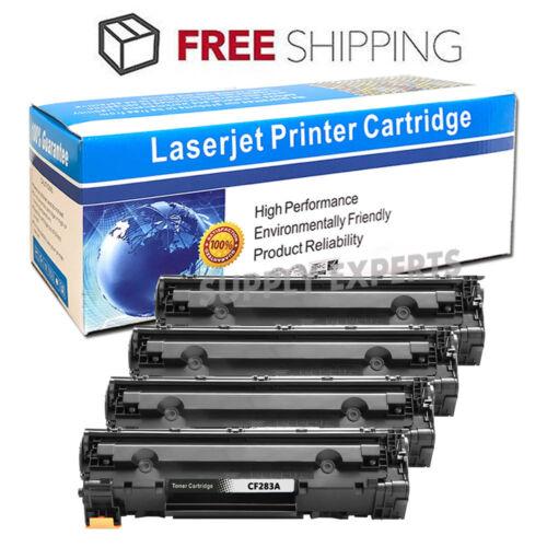 4Pack CF283A 83A Toner Cartridge For HP LaserJet Pro M201dw M201dn M225dn M225dw