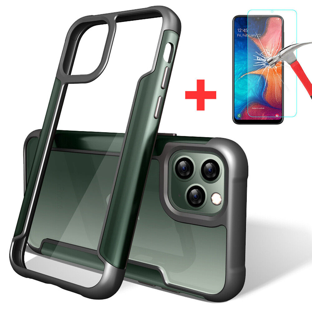 For iPhone 11 Pro Max XR XS 7 8 Plus Shockproof Metal Bumper