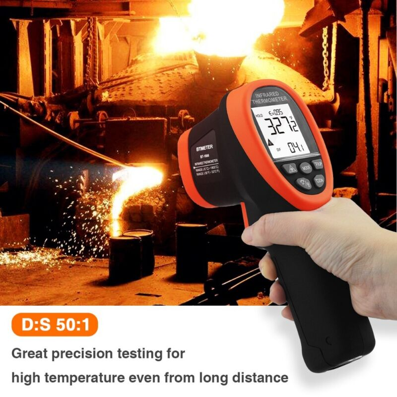 Infrared Thermometer Test High Temperature -58℉~3272℉ Thermometer Pyrometer Gun
