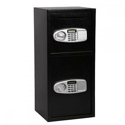 New Double Door  Cash Office Security Lock Digital Safe Depository Drop Box B02