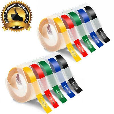 10 Pack Embossing Label Maker Tape 9mm Refills For Dymo Organizer Xpress 38