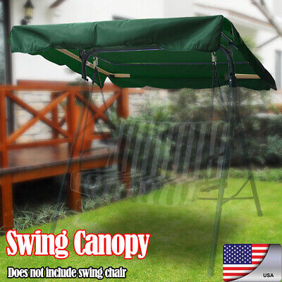Swing Top Cover Canopy Replacement Patio Backyard Awning Yard Furniture Green