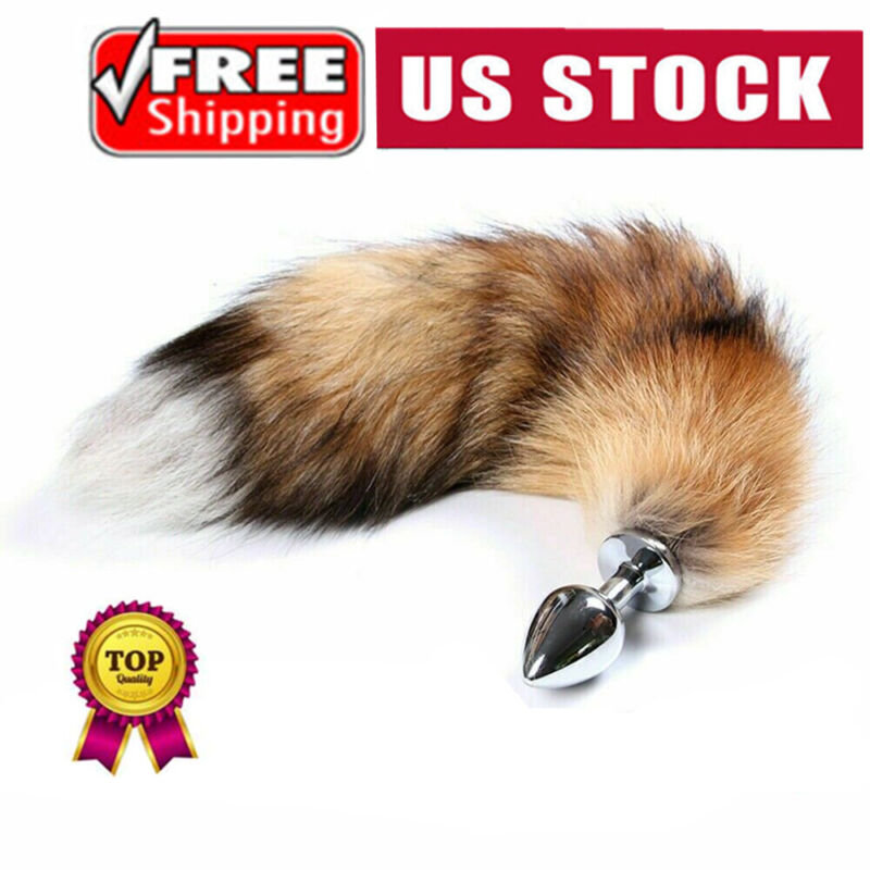 Fox Tail With Metal Anal-Butt Cosplay Plug Romance Game Funny Toy Games