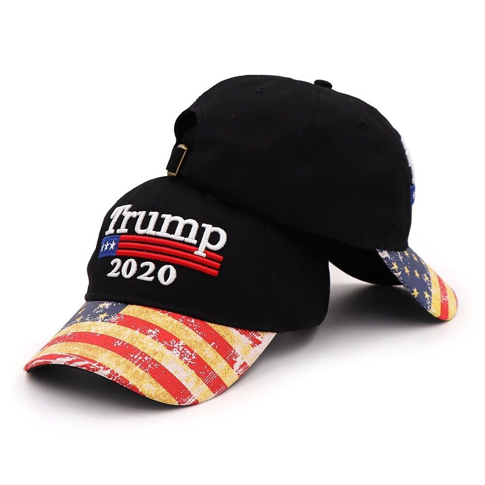 Embroidery Republican Trump for 2020 President America Baseball Cap Hat Black Collectibles