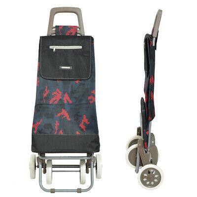 Carro de la Compra Compras 4 Ruedas tipo saco negro-rojo envios 24/48...