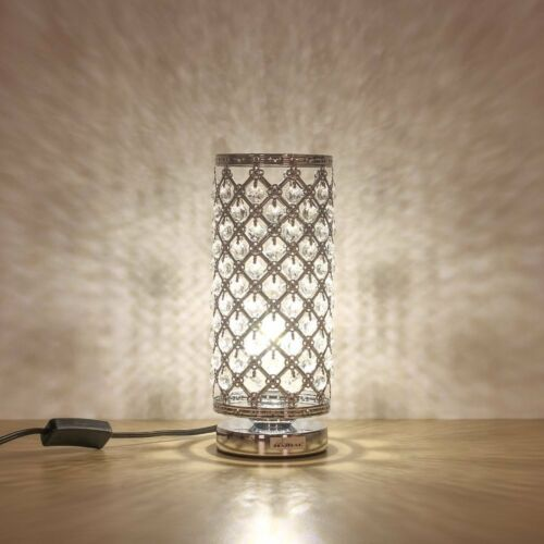 Crystal Table Lamp Decorative Bedside Nightstand Desk Lamp f