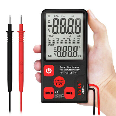 Acdc Digital Smart Multimeter True Rms Multimeter Measuring Voltag Tester Q3p4