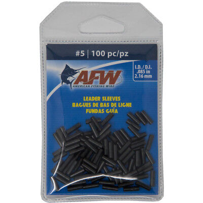 AFW American Fishing Wire Single Barrel Copper Crimp Sleeves Leader Size 5 -