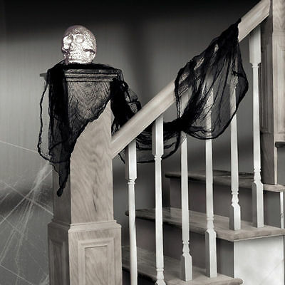 CHEAP Halloween Black Cheesecloth Draping Decoration Prop Spooky Scene Garland
